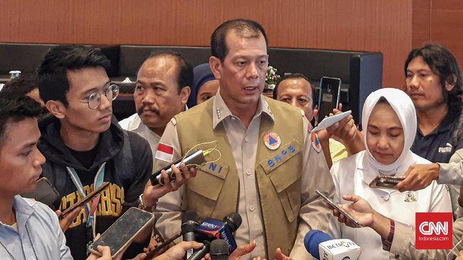 Kepala BNPB Doni Monardo dalam agenda Refleksi Bencana Tahun 2019 dan Proyeksi Bencana 2020 di Gedung Graha BNPB, Jakarta, Senin (30/12).