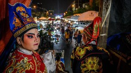 FOTO: Opera Tionghoa Bertahan di Tengah Modernisasi Thailand