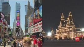 VIDEO: New York dan Moskow Bersolek Jelang Pergantian Tahun