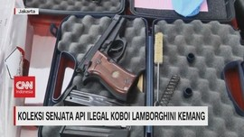 VIDEO: Koleksi Senjata Api Ilegal Koboi Lamborghini Kemang