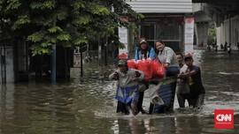 Banjir Sepinggang Rendam Kampung Bojong Jengkol di Bogor