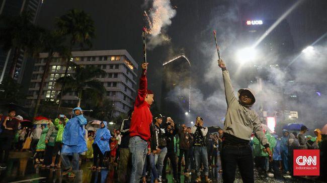 Polisi tak akan mengizinkan kendaraan dan manusia berlalu lalang di kawasan Sudirman-Thamrin, Jakarta Pusat, saat malam tahun baru.