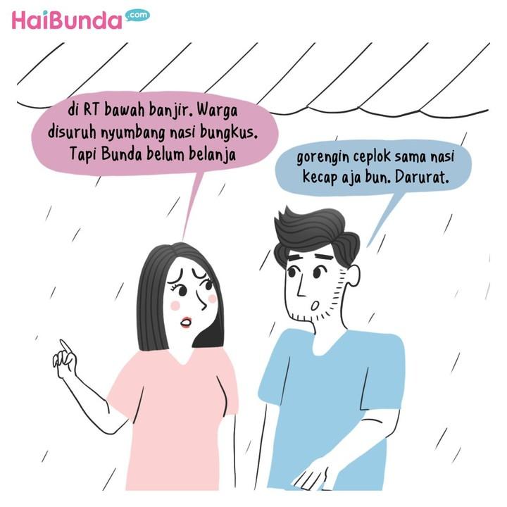Musim hujan sudah datang hati-hati banjir dan tetap jaga lingkungan, Bun. Bunda punya pengalaman soal banjir kayak apa? Share yuk.
