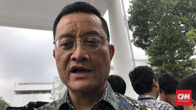 Menteri Sosial Juliari Batubara di Kompleks Istana Kepresidenan Jakarta, Senin (6/1).
