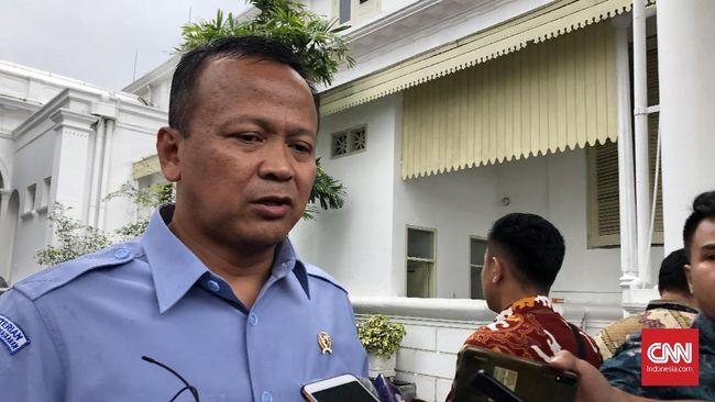 Menteri Kelautan dan Perikanan Edhy Prabowo di Kompleks Istana Kepresidenan Jakarta, Senin (6/1).