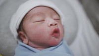 <p>Anak laki-laki mereka diberi nama Zayn Sadavir Ezhilan Ismail. Berbalut kain bedong biru muda, Zayn nampak menggemaskan ya, Bun. (Foto: Instagram @syahnazs)</p>