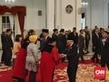 Jokowi Saksikan Sumpah Suhartoyo-Daniel Yusmic Jadi Hakim MK