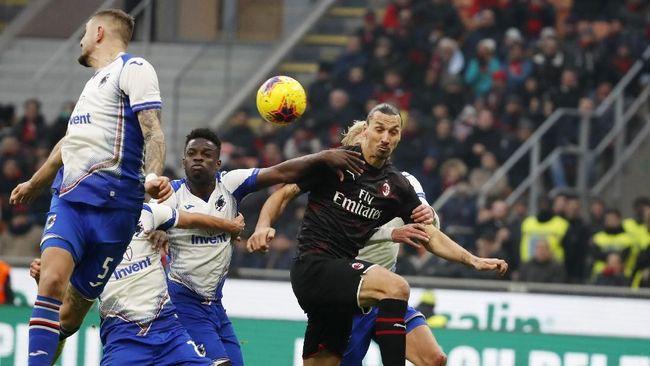 Debut Ibrahimovic bersama Milan Gagal Mengesankan