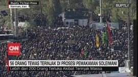 VIDEO: 56 Orang Tewas Terinjak Saat Pemakaman Soleimani