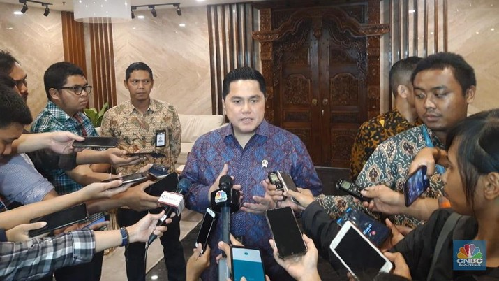 Menteri BUMN Erick Thohir (CNBC Indonesia/ Cantika Adinda Putri)