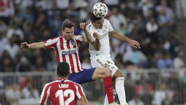 Duel Real Madrid lawan Atletico Madrid di Piala Super Spanyol berlanjut ke babak perpanjangan waktu.