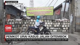 VIDEO: Jalan Ditembok Warga, Pemkot Akan Pidanakan Pelaku