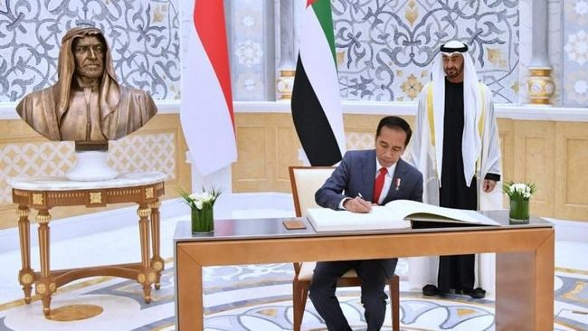 Indonesia dan Uni Emirat Arab telah menandatangani 16 kesepakatan dalam pertemuan bilateral, Minggu (12/1).