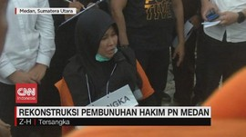 VIDEO: Rekonstruksi Pembunuhan Hakim PN Medan