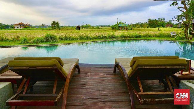 Suasana di Hotel Adiwana Arya Villas, Ubud, Bali. (CNNIndonesia/Ardita Mustafa)
