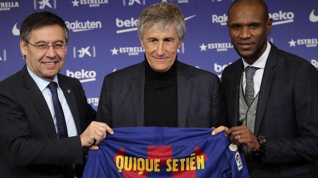 Presiden Barcelona Josep Maria Bartomeu mengatakan Quique Setien akan tetap jadi pelatih Blaugrana di musim depan.