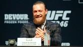 Tidak ada kata-kata kotor dalam konferensi pers pertarungan UFC 246 Conor McGregor vs Donald Cerrone di Las Vegas, Amerika Serikat.