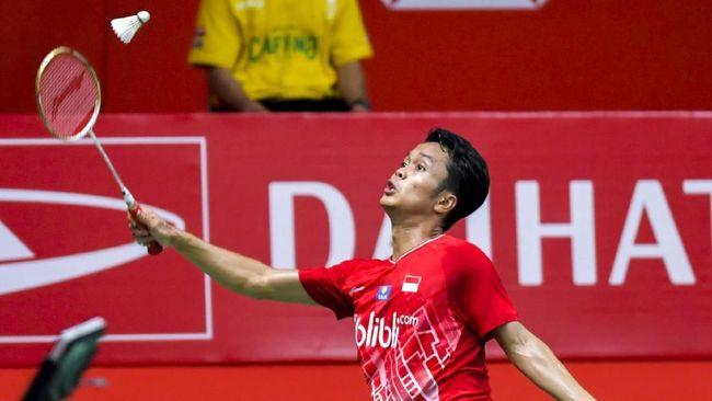 Anthony Sinisuka Ginting menjadi juara Indonesia Masters 2020 setelah menang 17-21, 21-15, dan 21-9 atas Anders Antonsen Minggu (19/1) malam.