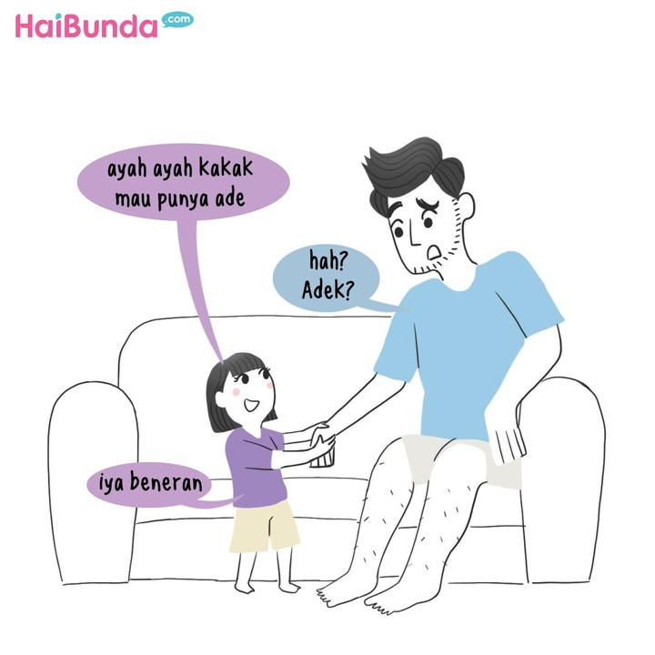 Apa reaksi ayah dan anggota keluarga lain terutama anak pas tahu Bunda hamil? Sama enggak dengan reaksi ayah dan kakak di komik Bunda ini? Share yuk, Bunda.