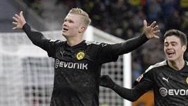 FOTO: 'Bom' Haaland di Dortmund, Debut Langsung Hattrick