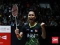 Kalahkan Shesar, Ginting Juara PBSI Home Tournament