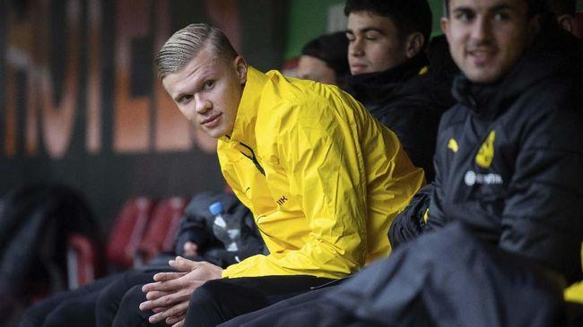 Erling Haaland jadi pahlawan kemenangan Borussia Dortmund saat mengalahkan Paris Saint-Germain di 16 besar Liga Champions.