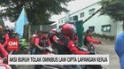 VIDEO: Tolak Omnibus Law, Buruh Sweeping Kawasan Industri