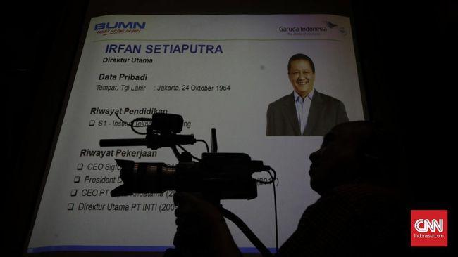 Dirut Garuda Indonesia yang baru Irfan Setiaputra mendapatkan beberapa tugas dari Menteri BUMN Erick Thohir.