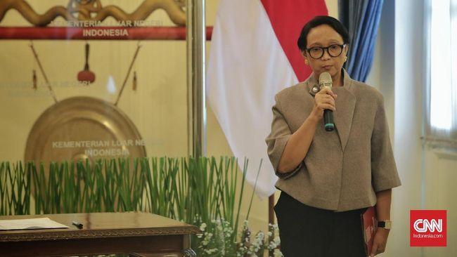Menteri Luar Negari Retno Marsudi di Kantor Kemenlu, Jakarta, Kamis, 23 Januari 2020.