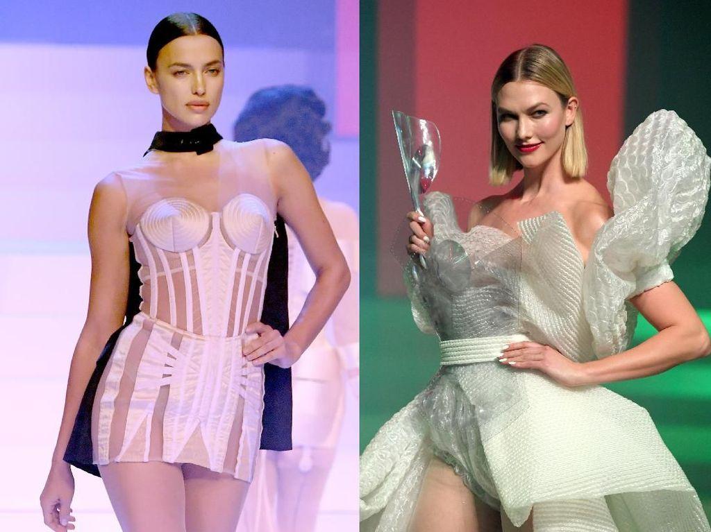 Adu Seksi Irina Shayk dan Karlie Kloss di Paris Fashion Week