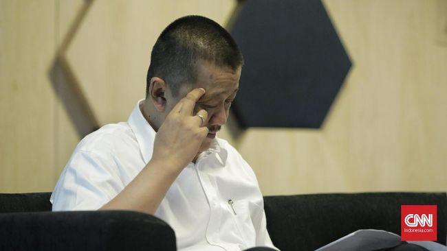 Direktur Utama Garuda Indonesia Irfan Setiaputra saat berbinyang dengan media. Jakarta, 24 Januari 2020.