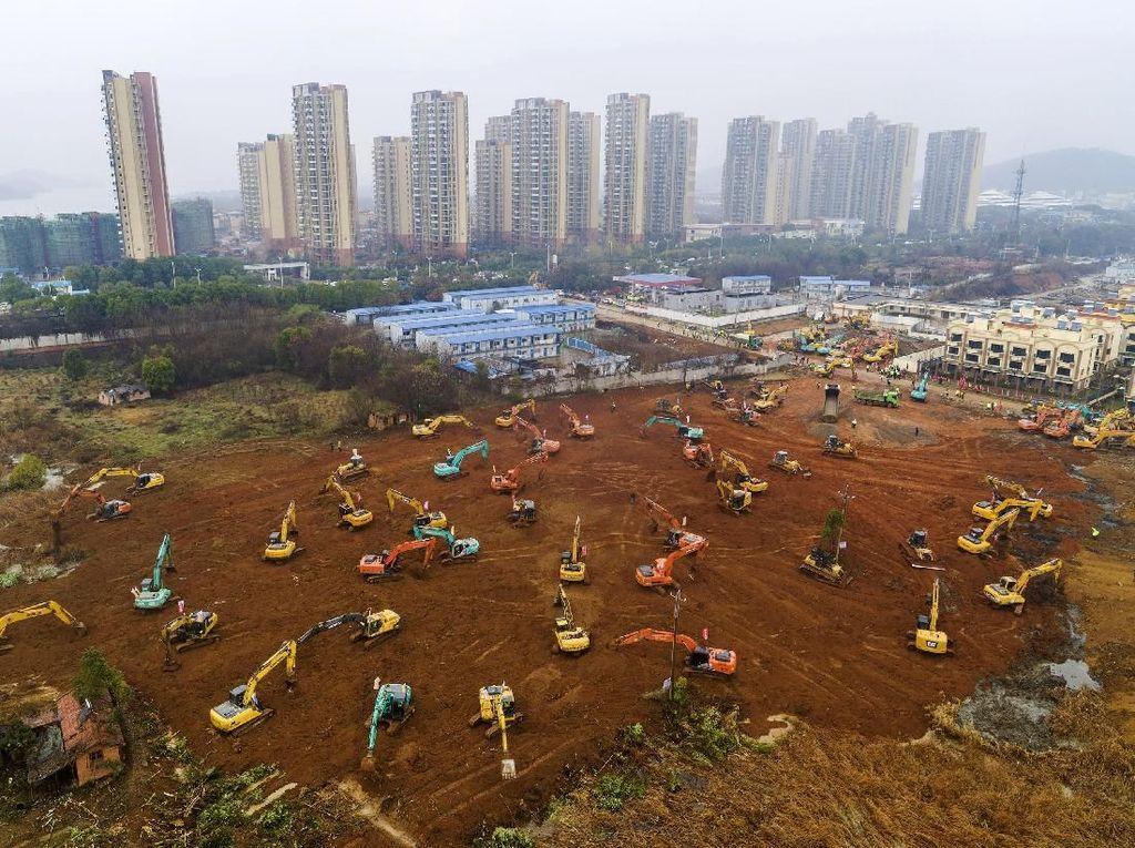 China Kebut Pembangunan Rumah Sakit Khusus Pasien Virus Corona