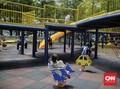 FOTO: Keceriaan yang Mengusir Seram di Taman Puring