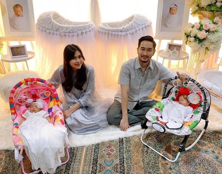<p>Semenjak dikaruniai sepasang anak kembar, kehidupan Syahnaz Sadiqah tampak lebih bahagia. (Foto: Instagram @syahnazs)</p>