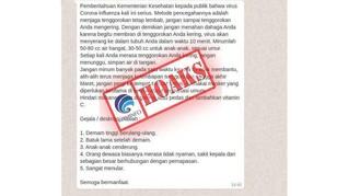 Daftar Hoaks Corona Viral, di Antaranya Tarif Listrik Gratis