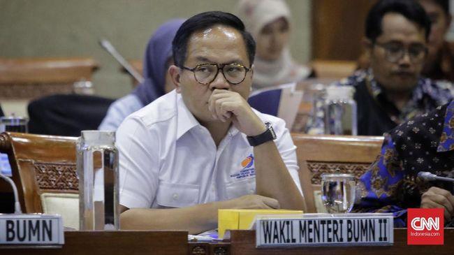 Wamen BUMN II Kartika Wirjoatmodjo mengikuti rapat dengan Panitia Kerja (Panja) Komisi VI DPR terkait kasus Asuransi Jiwasraya. Jakarta, Rabu, 29 Januari 2020.