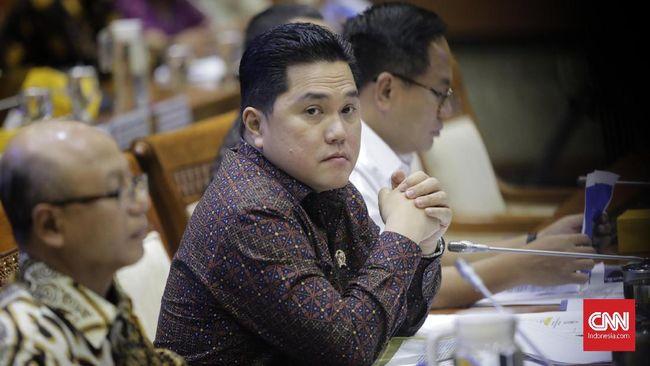 Menteri BUMN Erick Thohir mengikuti rapat dengan Panitia Kerja (Panja) Komisi VI DPR terkait kasus Asuransi Jiwasraya. Jakarta, Rabu, 29 Januari 2020.