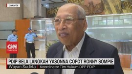 VIDEO: PDIP Bela Langkah Yasonna Copot Ronny Sompie