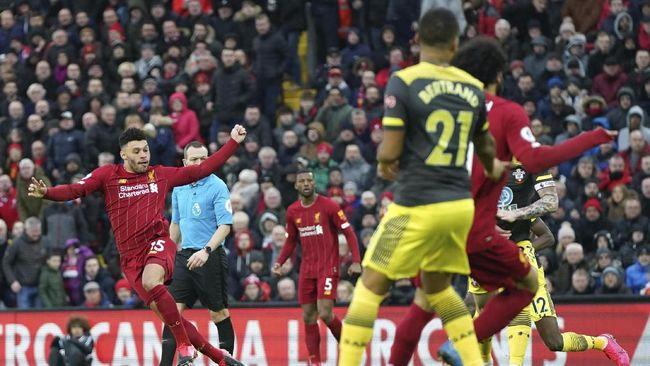 Liverpool menang telak 4-0 atas Southampton pada pekan ke-25 Liga Inggris dengan dua gol dicetak Mohamed Salah.