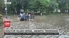 VIDEO: Diguyur Hujan Deras, Jakarta Kembali Tergenang