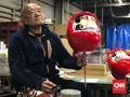 FOTO: Wujud Daruma, Boneka Keberuntungan dari Jepang