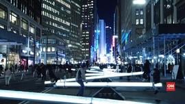 VIDEO: Instalasi Jungkat-Jungkit Bercahaya di New York