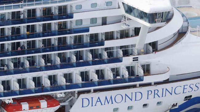 Penumpang kapal pesiar Diamond Princess di Jepang terinfeksi virus corona bertambah menjadi 174 orang.