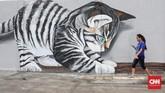 Mural fauna mampu mengubah tembok-tembok Kali Opak yang dulu lusuh dan kotor menjadi kekinian dan Instagram-able.
