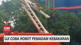 VIDEO: Uji Coba Robot Pemadam Kebakaran