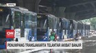 VIDEO: Penumpang Transjakarta Terlantar Akibat Banjir