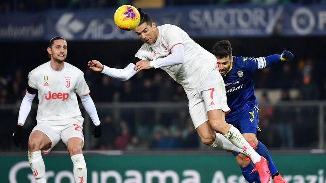 Rekor gol Cristiano Ronaldo di Juventus jadi sia-sia gara-gara kesalahan yang dibuat kapten tim, Leonardo Bonucci.