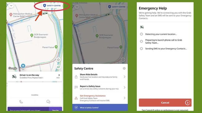 Grab Punya Emergency Button Untuk Cegah Tindak Kejahatan