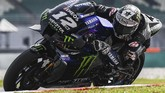 Monster Energy Yamaha's Spanish rider Maverick Vinales takes a corner during the last day of the pre-season MotoGP winter test at the Sepang International Circuit in Sepang on February 9, 2020. (Photo by Mohd RASFAN / AFP)