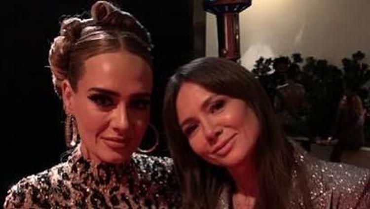 Adele menjadi salah satu tamu di pesta setelah Oscar 2020. Penampilan barunya yang kurus bikin orang-orang tak mengenalinya, Bunda.